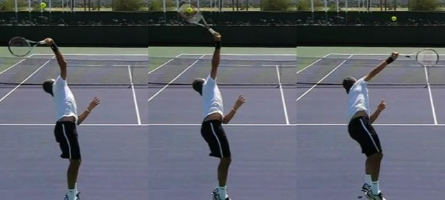 Top spin serve pronation