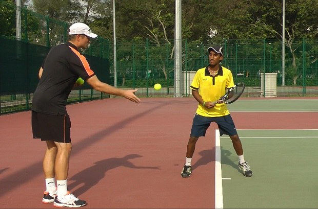 Image result for backhand tennis drills