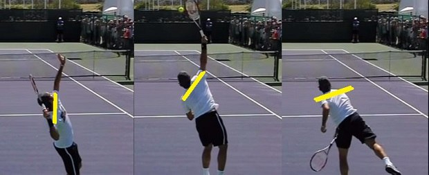 Roger Federer serve shoulders