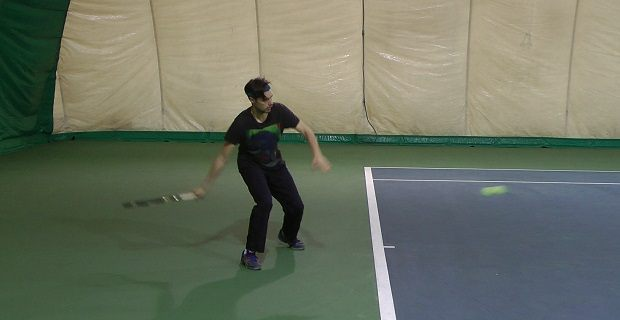 working on tennis strokes