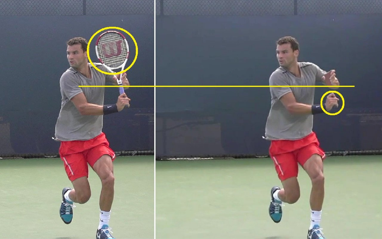 single handed backhand
