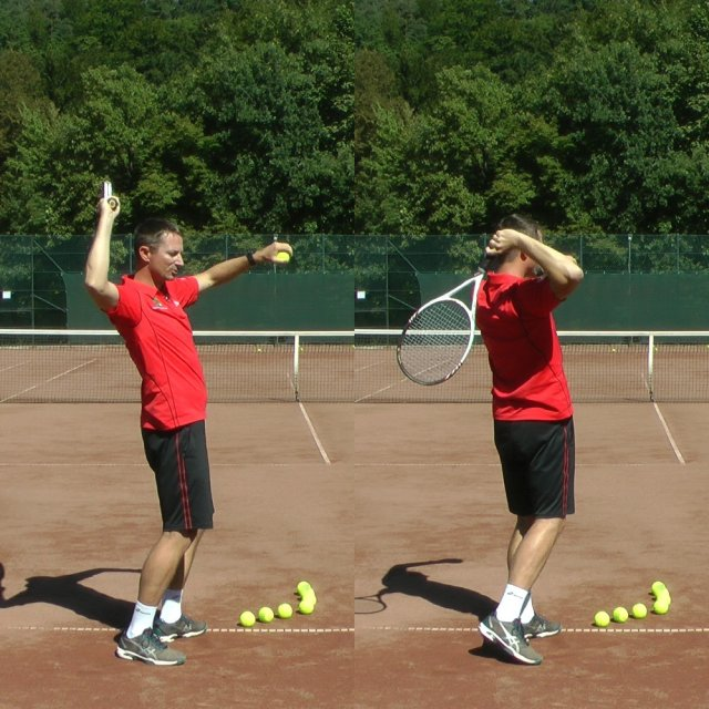 whip effect on a tennis serve