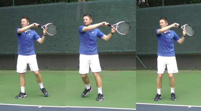 consistent forehand finish