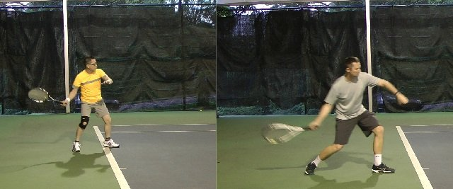 timing problem in tennis