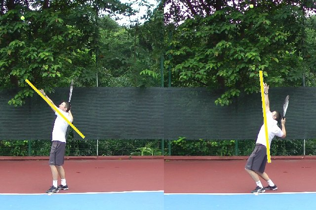 serve tossing arm