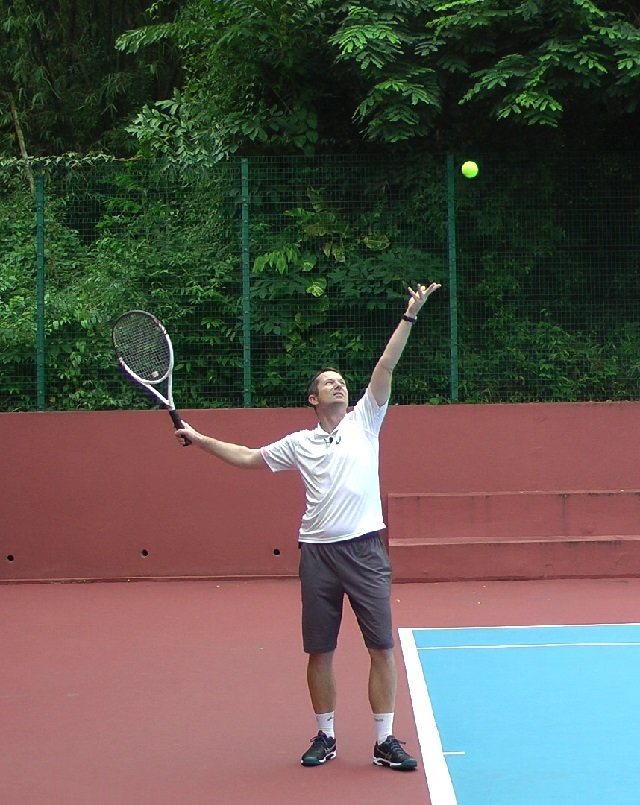 tennis serve drill for accurate toss