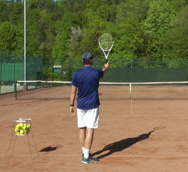 forehand grip for serving