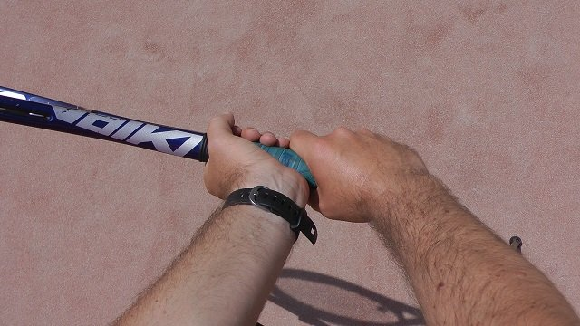two-handed backhand grip combo