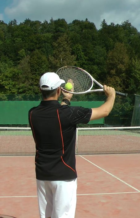 topspin serve in tennis