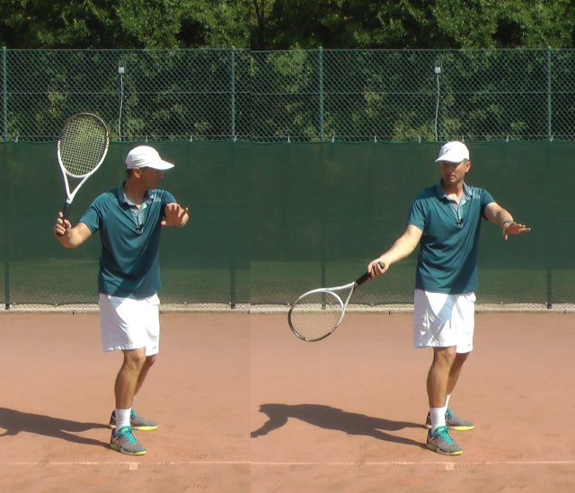 forehand drop technique