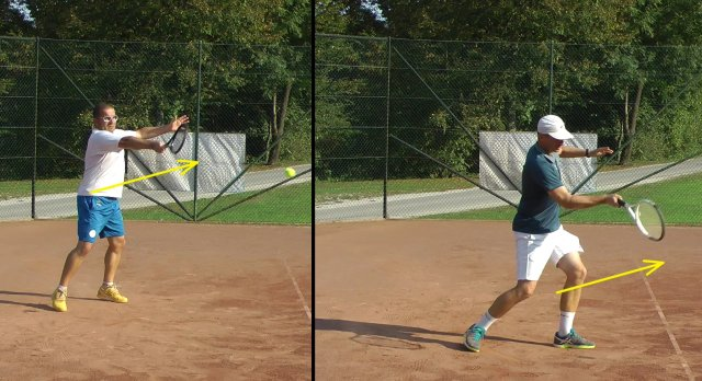 extending after the forehand stroke