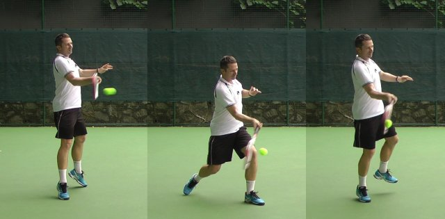 forehand wrist at contact point