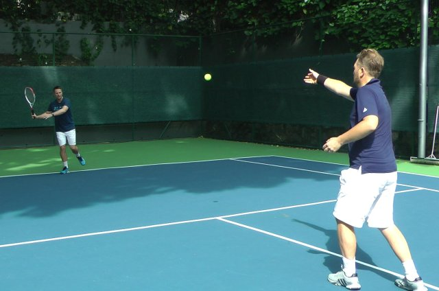 open stance tennis forehand drill