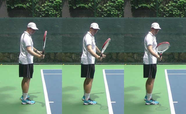 forehands grips in the drop