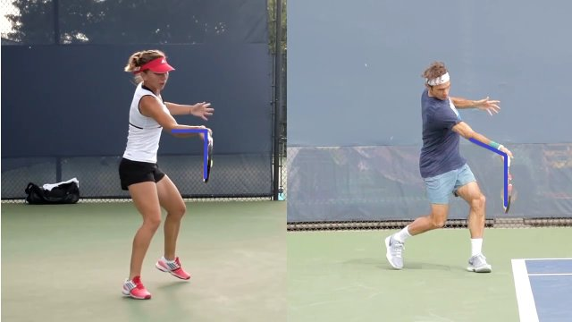 tennis forehand wrist position at contact