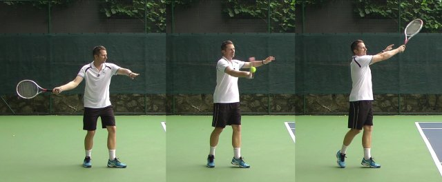 classic forehand technique