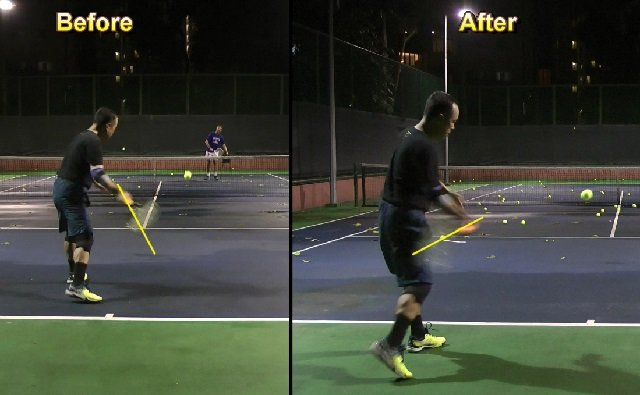 tennis forehand correction for the wrist