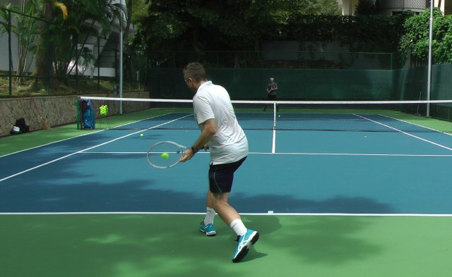 free hitting tennis session