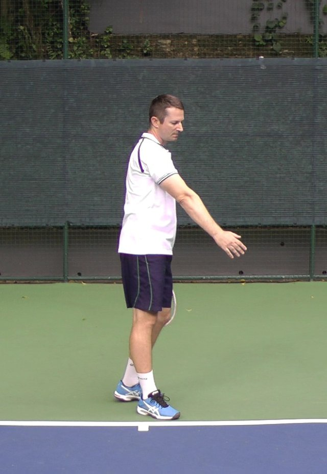 ideal swing zone for backhand