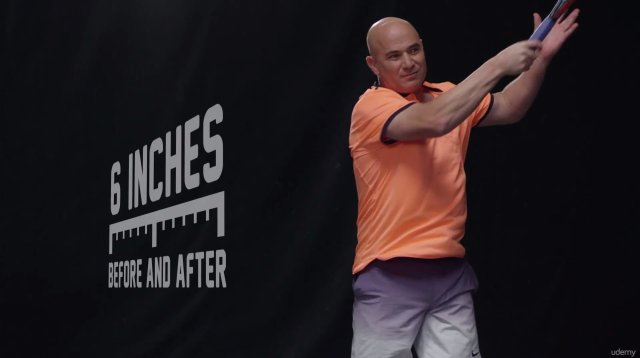Andre Agassi forehand follow-through