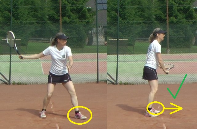 forehand unit turn in tennis