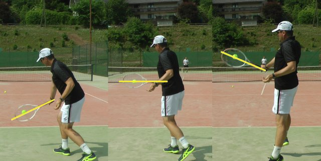 backhand contact heights