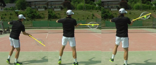 forehand contact heights
