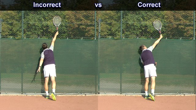 Ideal Tennis Serve Position At Contact Feel Tennis
